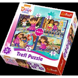 PUZZLE TREFL 4W1 34265 DORA...