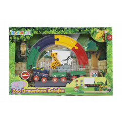 Kolejka drewniana Zoo 25449...