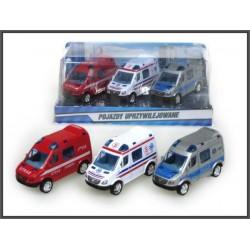 Samochody 3szt pojazdy...